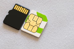 SIM and SD card Stock Images