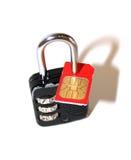 SIM-serratura Immagini Stock