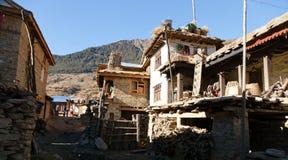 Sim wioska, piękna wioska w zachodnim Nepal Fotografia Stock
