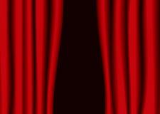 Sima roja de la cortina del teatro Foto de archivo libre de regalías