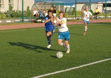 Simakina N (87, weißes) gegen Kostanyan G (19, Blaues) Lizenzfreies Stockfoto