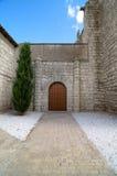 Simancas教会门 库存照片