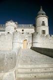 Simancas kasteelvoorzijde Stock Fotografie