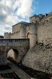 Simancas, Spain. 04/12/2008.Simancas castle. Castle that hosts the General Archives of Simancas Stock Photos