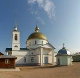 Simansky monastery. Church of the Saviour in Simansky monastery in Pskov province Stock Photo