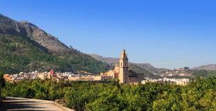Simat de Valldigna village and Monasterio Stock Images