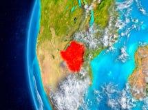 Simbabwe auf Erde vom Raum Lizenzfreie Stockbilder