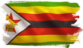 Simbabwe-Flagge Stockfoto