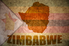 Simbabwe-Weinlesekarte Stockfoto