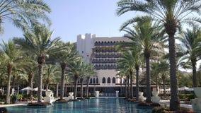 Simbassäng av ett lyxigt hotell Arkivfoton