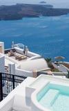 Simbassäng i Santorini, Grekland royaltyfri fotografi
