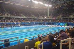 Simbassäng på olympisk Aquaticsstadion Royaltyfri Foto