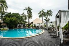 Simbassängen är i söder av Thailand Fotografering för Bildbyråer
