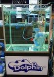 Simbassängrengöringsmedelrobot Fotografering för Bildbyråer