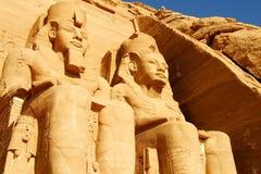 阿布格莱布Simbel埃及寺庙。 库存图片