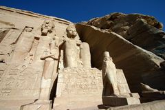 Simbel d'Abu Photo stock