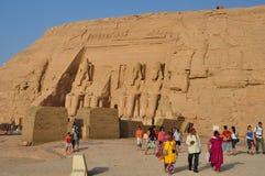 Simbel del abu de Egipto Foto de archivo libre de regalías