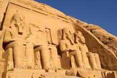 Simbel Egipto de Abu Fotos de archivo libres de regalías