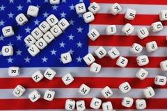 Simbol εκλογής στην αμερικανική σημαία Στοκ Εικόνες