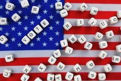Simbol εκλογής στην αμερικανική σημαία Στοκ εικόνες με δικαίωμα ελεύθερης χρήσης
