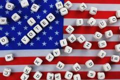 Simbol εκλογής στην αμερικανική σημαία Στοκ εικόνα με δικαίωμα ελεύθερης χρήσης