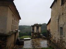 simbol celta rústico no celeiro em Galiza Fotos de Stock Royalty Free