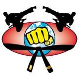 Simbol colorato della tazza di mondo di arte marziale. Immagini Stock Libere da Diritti