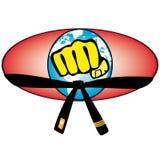 Simbol colorato della tazza di mondo di arte marziale. Vettore. Immagine Stock Libera da Diritti