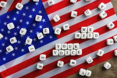 Simbol d'élection sur le drapeau des Etats-Unis Image libre de droits