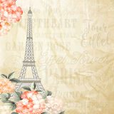 Simbol da torre Eiffel Foto de Stock