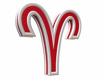 Simbol de Bélier de zodiaque Photographie stock libre de droits