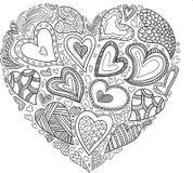 Simbol de coeur de vecteur Photos libres de droits