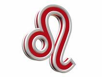 Simbol de leo do zodíaco Foto de Stock