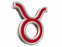 Simbol de Taureau de zodiaque Photo libre de droits