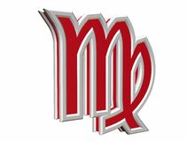 Simbol de Vierge de zodiaque Photo libre de droits