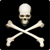 Simbol del pirata Imágenes de archivo libres de regalías