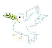 Simbol della colomba di pace Fotografia Stock Libera da Diritti