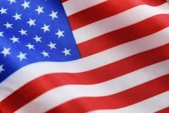 Simbol di elezione sulla bandiera degli S.U.A. fotografie stock