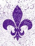 Simbol do carnaval - flor de lis Fundo do Grunge