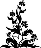 Simbol floral de tatouage de conception Photographie stock libre de droits