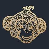 Simbol new year 2016 monkey. Vector illustration royalty free illustration