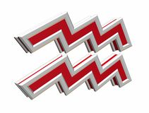 Simbol van Waterman van de dierenriem Royalty-vrije Stock Foto