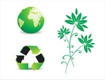 Simboli ambientali di conservazione Immagine Stock Libera da Diritti