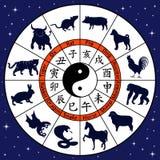 Simboli animali di zodiaco cinese illustrazione di stock