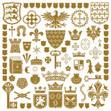Simboli ARALDICI e decorazioni illustrazione di stock