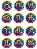 Simboli astrologici Fotografia Stock Libera da Diritti