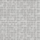 Simboli binari reali dentro riempiti modello senza cuciture Immagini Stock