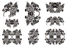Simboli capi del drago Fotografie Stock Libere da Diritti