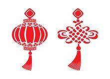Simboli cinesi di nuovo anno Fotografie Stock