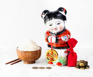 Simboli cinesi di nuovo anno Immagini Stock Libere da Diritti